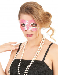 Rosa ögonmask med paljetter