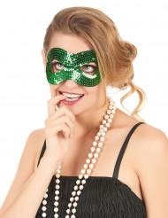 Grön ögonmask med paljetter för vuxna