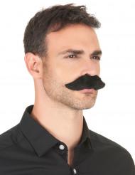 Tjock svart mustasch för vuxna - Maskeradtillbehör