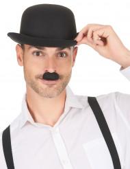 Svart Chaplinmustasch för vuxna
