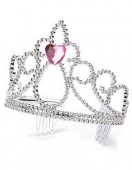 Prinsessdiadem med hjärta för vuxna och barn