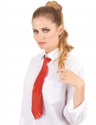 Röd paljettglittrande slips för vuxna