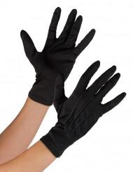 Svarta handskar för vuxna