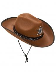 Ljusbrun sheriffhatt för vuxna