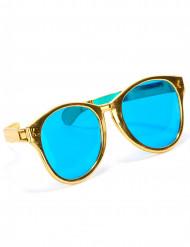 Guldfärgade jätteglasögon för vuxna