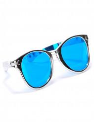 Silverfärgade jätteglasögon för vuxna