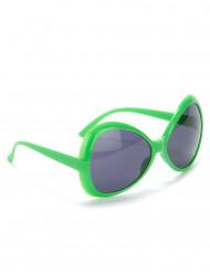Groovy blick - Gröna discoglasögon för vuxna