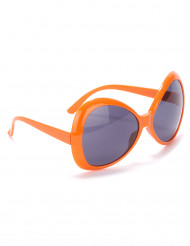 Orange discoglasögon för vuxna