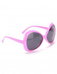 Rosa discoglasögon för vuxna - Maskeradtillbehör