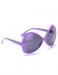 Lila discoglasögon - Maskeradtillbehör för vuxna