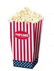 4 Popcorn askar i USA stil