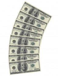 10 Servetter i form av 100 dollar