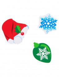 24 kartongkonfetti med jultema