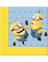 20 servetter med Dave & Tim från Minionerna™ 33 x 33 cm - Kalasdukning