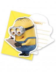 6 inbjudningskort med kuvert från Minionerna™