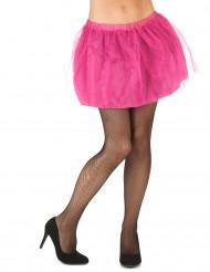 Rosa tyllkjol med ogenomskinlig underkjol dam