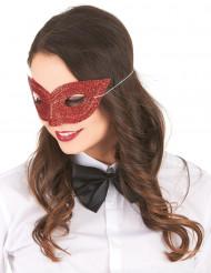 Venetiansk ögonmask i rött med paljetter