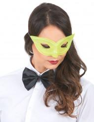 Gul paljettäckt venetiansk ögonmask för vuxna