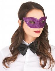 Venetiansk ögonmask i lila med paljetter