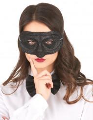 Svart venetiansk mask med paljetter