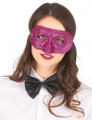 Rosa paljettäckt ögonmask för vuxna