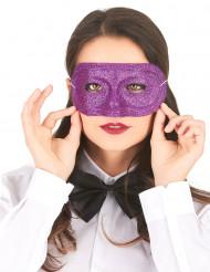 Lila med glitter - Ögonmask för vuxna till maskeraden