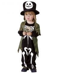 Dräkt nattligtSkelettHalloween barn