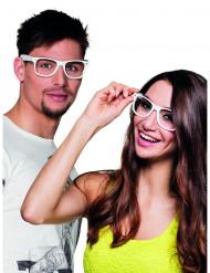 4 Vita glasögon vuxen