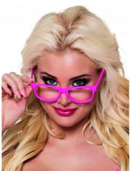 4 Neonrosa glasögon vuxen
