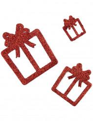 6 dekorationer: Röda julklappar