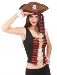 Snygg pirattopp och manschetter för vuxna