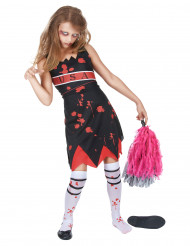 Kostym pom pom girl zombie för barn