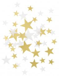 Gyllene och vita konfettin