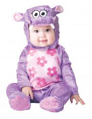 Lila flodhästdräkt bebis - Premium