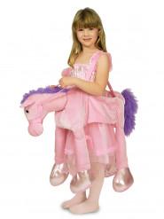 Rider på rosa häst - Maskeraddräkt för barn