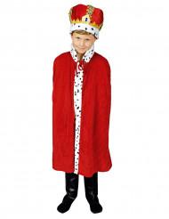 Röd kungamantel barn 80 cm