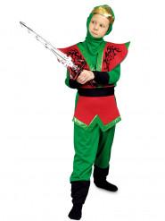 Talangfull ninja i rött och grön - Maskeraddräkt för barn