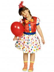 Clowndräkt med färgglada prickar för barn