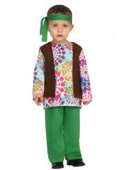 Mångfärgad prickig Hippie - Maskeraddräkt för bebisar