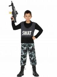 SWAT-militärkostym för barn till kalaset