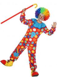 Mångfärgad Prickig Clownmaskeraddräkt Barn