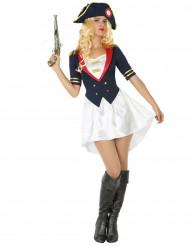 Kostym som fransk soldat dam