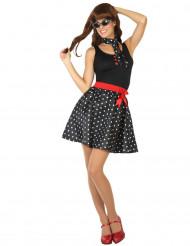 Svart 50-tals utklädnad klänning