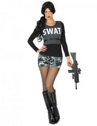 Kostym som militär SWAT dam