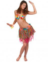 Flerfärgad Hawaii-kjol med blommor vuxen