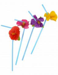 Sugrör med blommor i Hawaii-stil