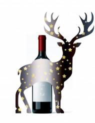 Hjortdjur till vinflaskan - Julpynt för julbordet