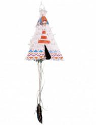 Tipi Piñata till festen med indiantema 43 cm
