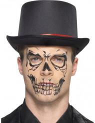 Skelettatuering - Halloweensminkning