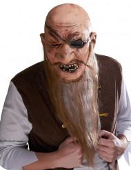 Latexmask sjörövare med långt skägg vuxen